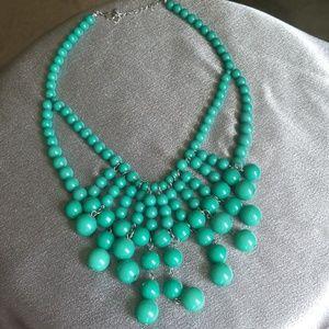 Necklace - Green Balls